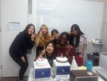 미국인턴 Cynthia의 생일파티